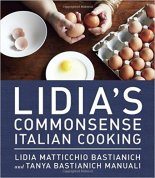 """Image of the book cover for """"Lidia's Commonsense Italian Cooking""""."""